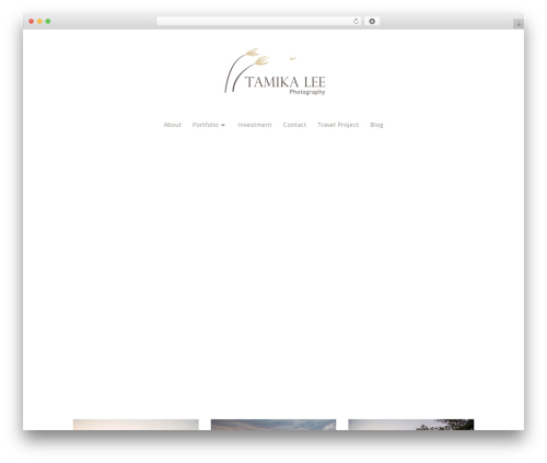 Divi WordPress theme image - tamikaleephotography.com