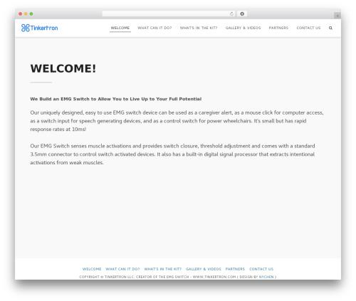 Flexia free WordPress theme - tinkertron.com