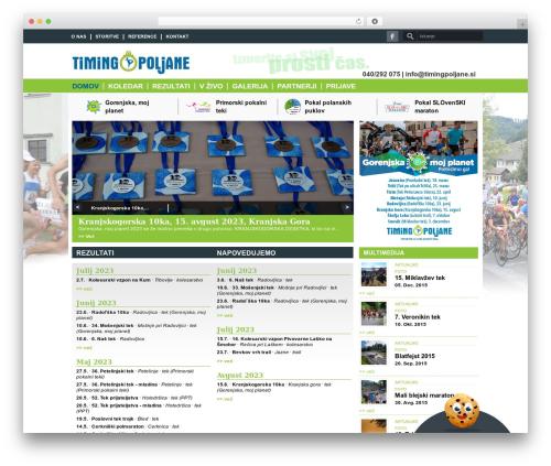 Good News best WordPress magazine theme - timingpoljane.si
