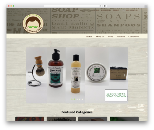 Loft WordPress ecommerce template - theallnaturalmale.com