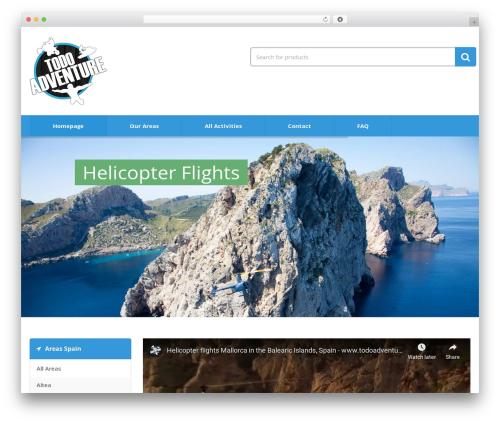 Media Center WordPress template - todoadventure.com
