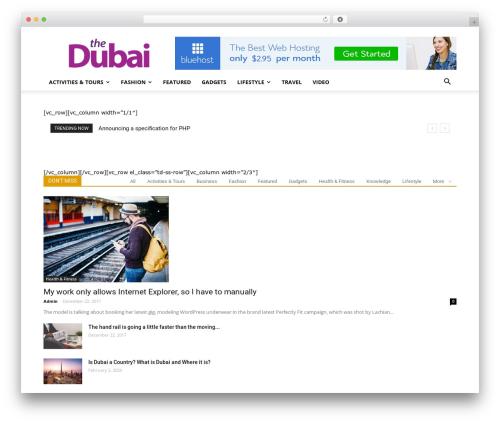 Newspaper WordPress news theme - thedubai.net