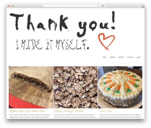 Nikkon WordPress template free - thankyouimadeitmyself.com