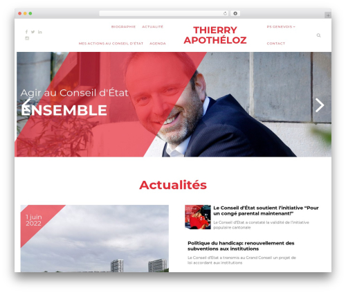 Politist WordPress theme - thierryapotheloz.ch
