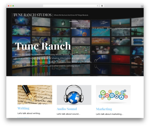 Primer free WordPress theme - tuneranch.com