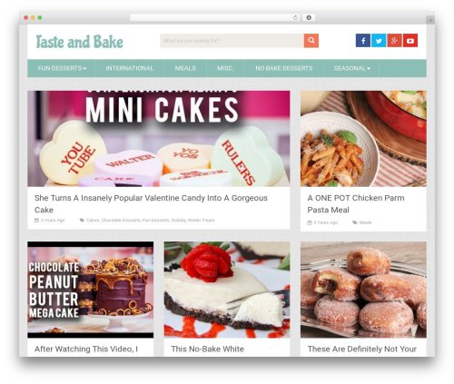SociallyViral by MyThemeShop WordPress ecommerce theme - tasteandbake.com