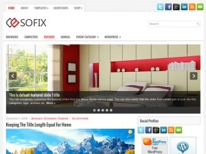 Sofix WordPress blog template