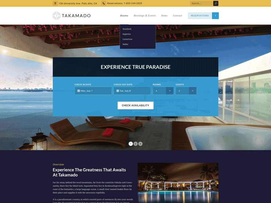 Theme WordPress Takamado Progression