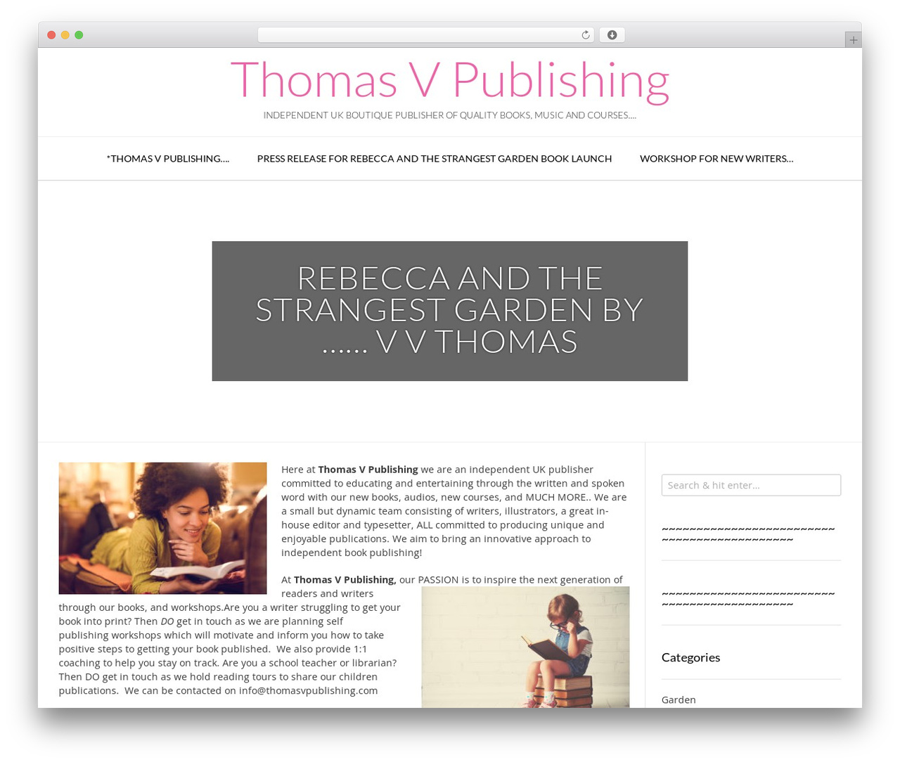 Vogue WordPress theme download by Kaira - thomasvpublishing com