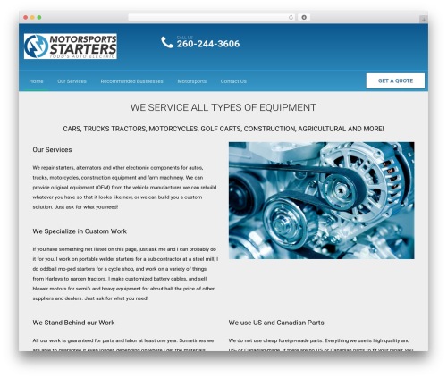 WordPress theme AutoRepair - toddsautoelectric.com