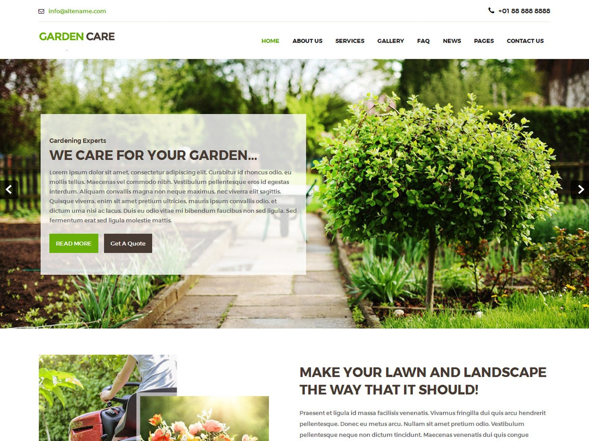 WordPress theme Greenhouse