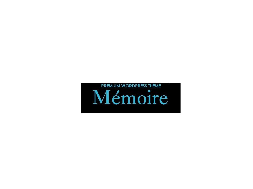 WordPress theme memoire