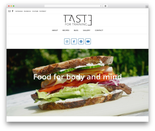 WordPress theme Vogue - tastefortraining.com