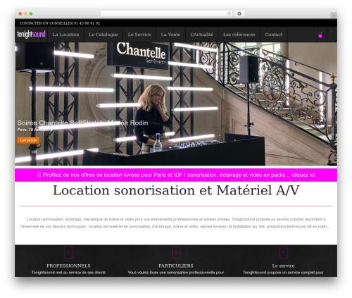 WordPress website template SnapShopWP - tonightsound.com