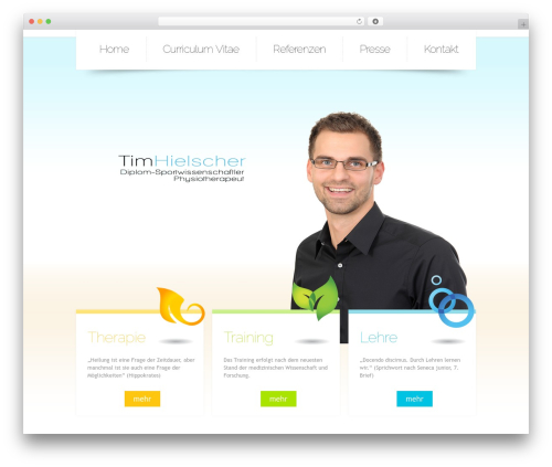 WordPress website template Theme 1257 - timhielscher.de