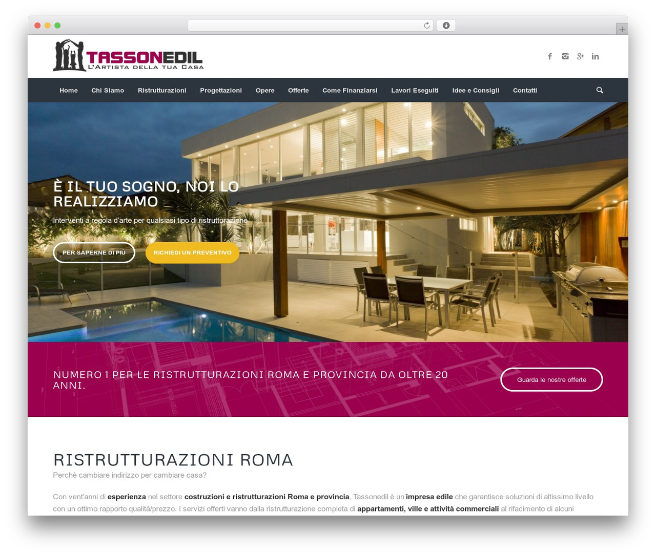 Imprese Di Costruzioni Roma wp template enfold by kriesi - tassonedil.it