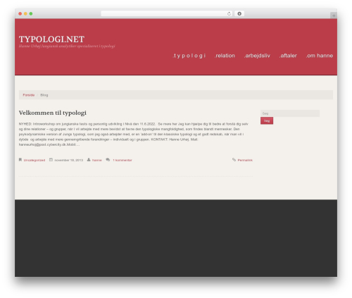 WP theme Uniqueness Red - typologi.net