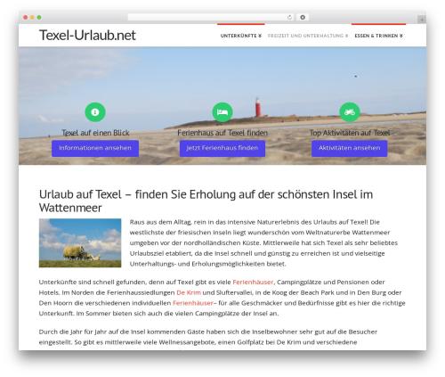 X WordPress theme - texel-urlaub.net