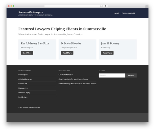 Acquire - WordPress Corporate Theme business WordPress theme - summervillelawyers.com