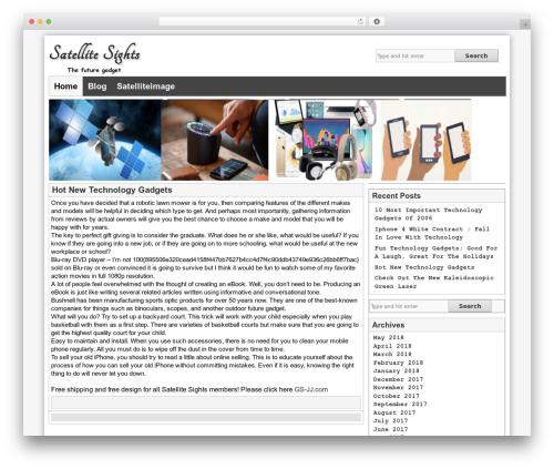 Artikler free WP theme - satellitesights.com
