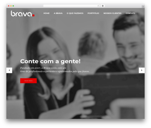 Best WordPress theme Pitch - brava-ag.com