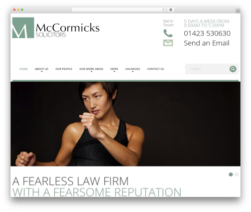 cherry business WordPress theme - mccormicks-solicitors.com