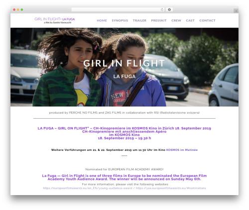Divi WordPress theme - lafugathemovie.com
