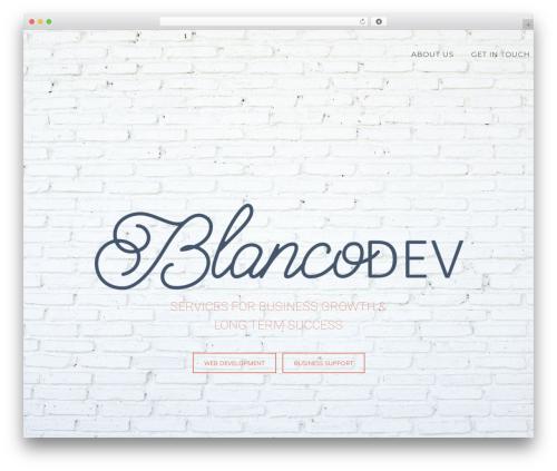 Enliven Pro WordPress template for business - blancodev.com