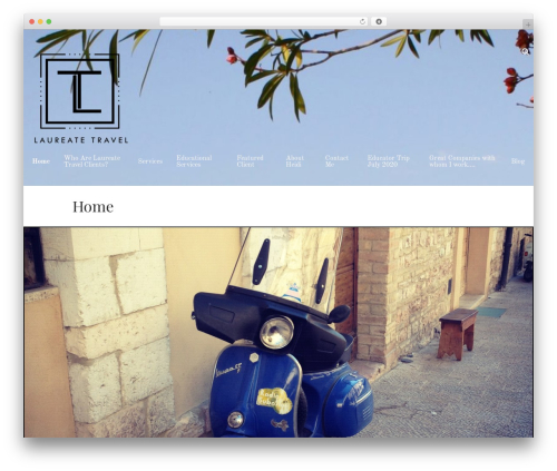 Hana WordPress travel theme - laureatetravel.com