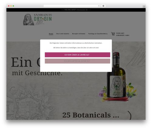 Hot Coffee WordPress theme - ginlouis.com