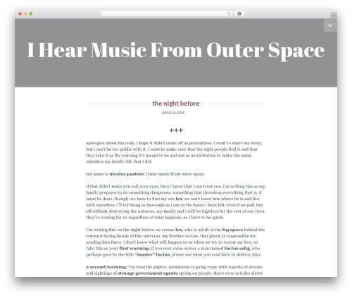 Lyretail theme WordPress - ihearmusicfromouterspace.com