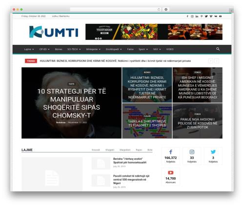 Newspaper WordPress news template - kumti.com