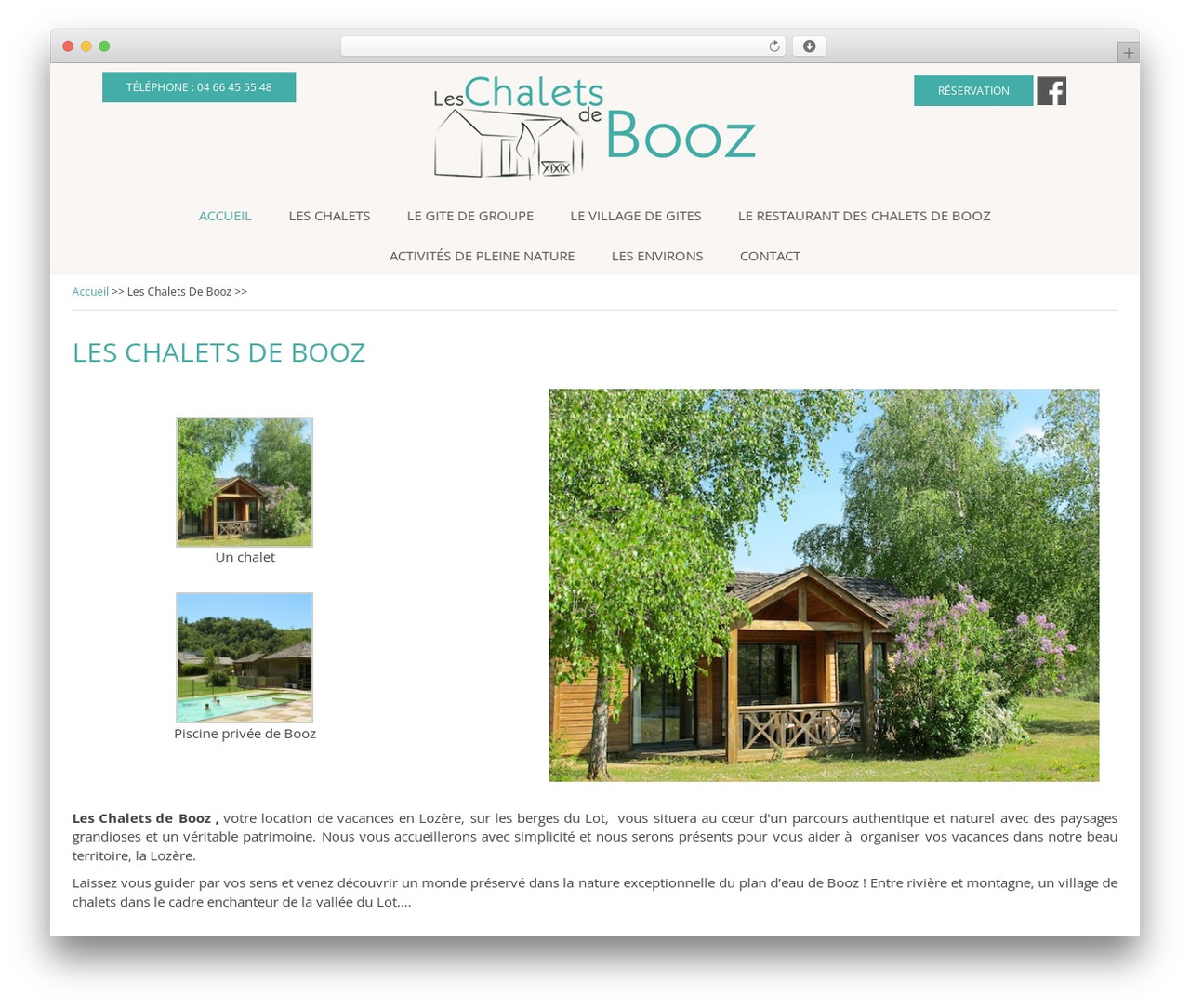 Theme BMS WordPress restaurant theme - chalets-booz.com