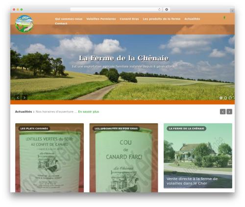 Theme WordPress Xenon - ferme-de-la-chenaie.com