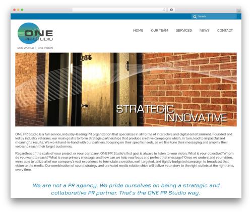 Virtue best free WordPress theme - oneprstudio.com