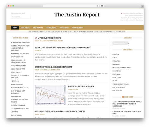 WordPress theme Headline News - austinreport.com