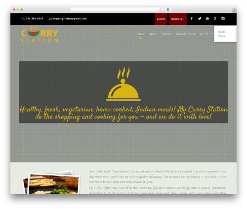 WordPress website template Risotto Themekiller.com - mycurrystation.com