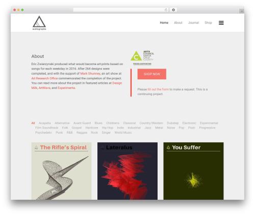 Best WordPress template Keen - audiographa.com