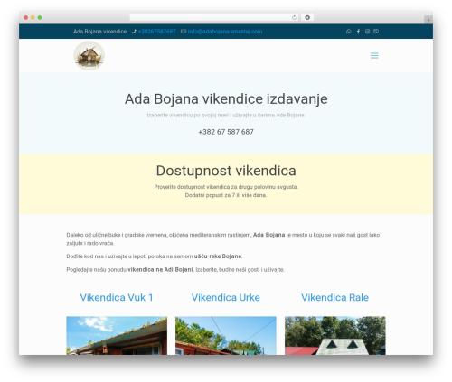 Betheme template WordPress - adabojana-smestaj.com