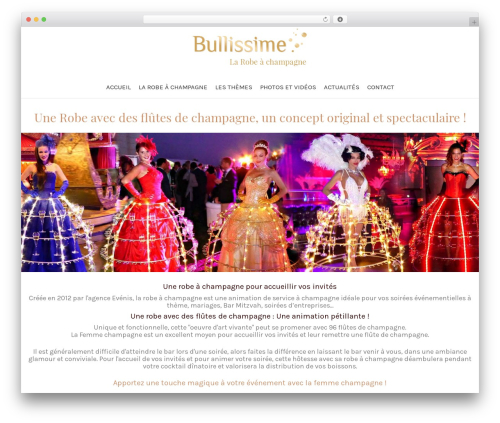 Customify premium WordPress theme - bullissime.com