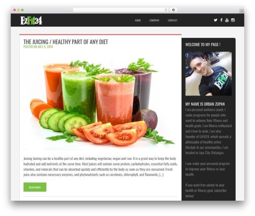 Fit Coach WordPress template - ezfit24.com