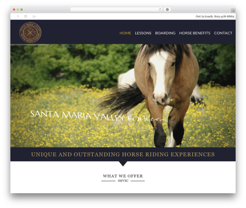 HorseClub WordPress theme - santamariavalleyequestriancenter.com
