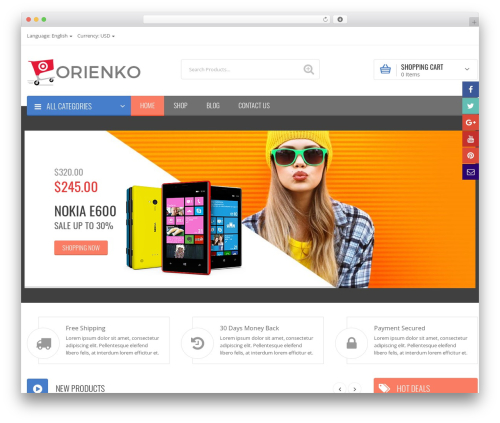 Orienko best WordPress theme - gaazaa.com