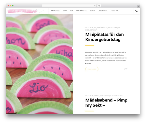 Pixie WordPress theme - cupcakeandconfetti.com
