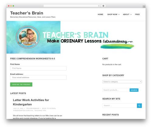 Poseidon WordPress template free download - teachersbrain.com