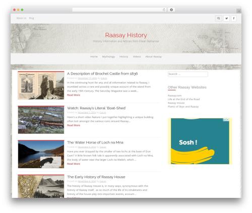 ProtoPress Pro WordPress page template - isleofraasay.com