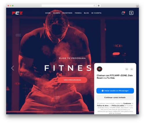 TopFit WordPress theme design - fitcampzone.com