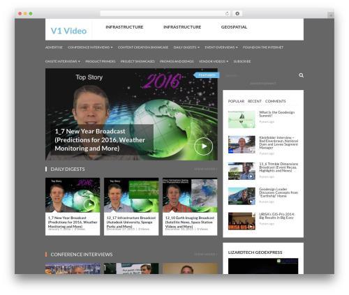 VideoZ WordPress magazine theme - v1-video.com