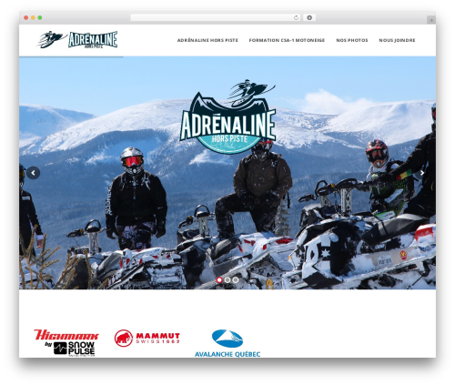 WordPress theme Edena - adrenalinehorspiste.com