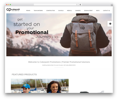 Best WordPress template Oasis - colorpointpromo.com